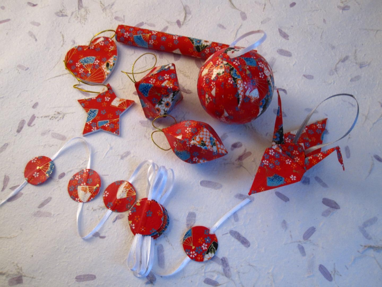 #B0281B Décorations Pour Sapin De Noël Rouge Chiyogami Touch 5327 decorations de noel au japon 1440x1080 px @ aertt.com